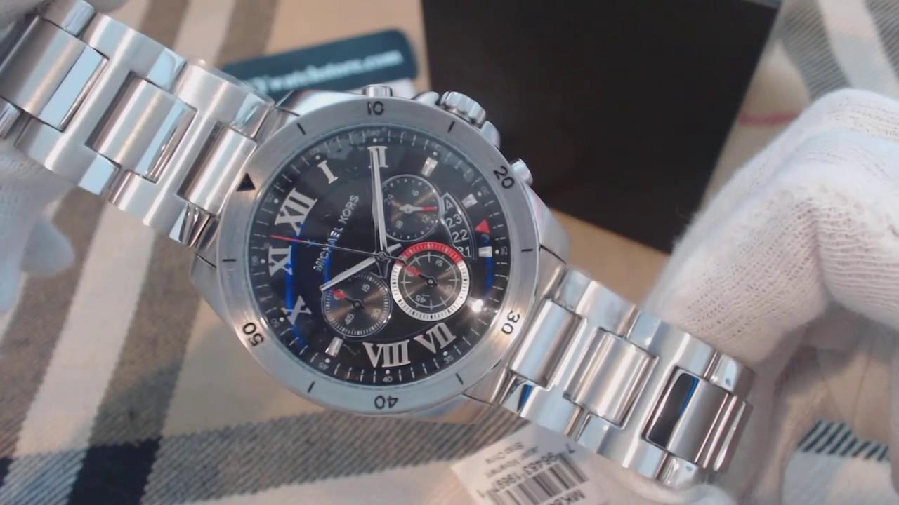 aa31d0621ae9 Men s Michael Kors Brecken Chronograph Watch MK8438 - YouTube