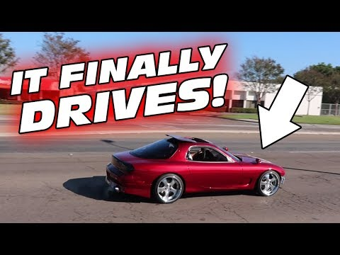 DRIVING THE FD RX-7 FOR THE FIRST TIME!!!!!!!