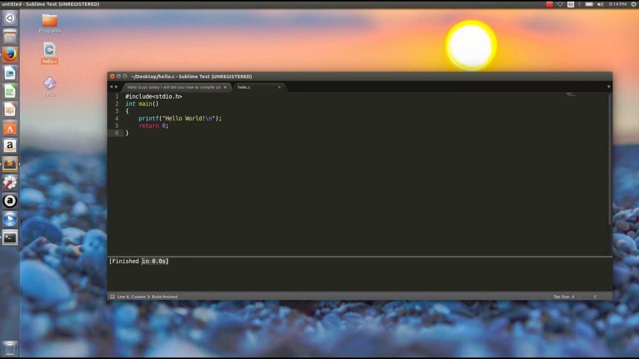 How To Compile And Execute C C Program On Ubuntu Using