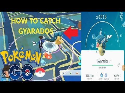 HOW TO CATCH GYARADOS    POKEMON GO   2018    CP 1918+