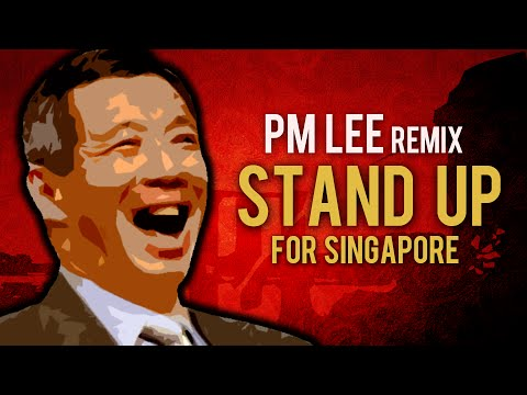 """Lee Hsien Loong Sings """"Stand Up For Singapore"""""""