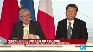 REPLAY - Discours de Jean-Claude Juncker devant Xi Jinping, Macron et Merkel reunis a l&#3 ...