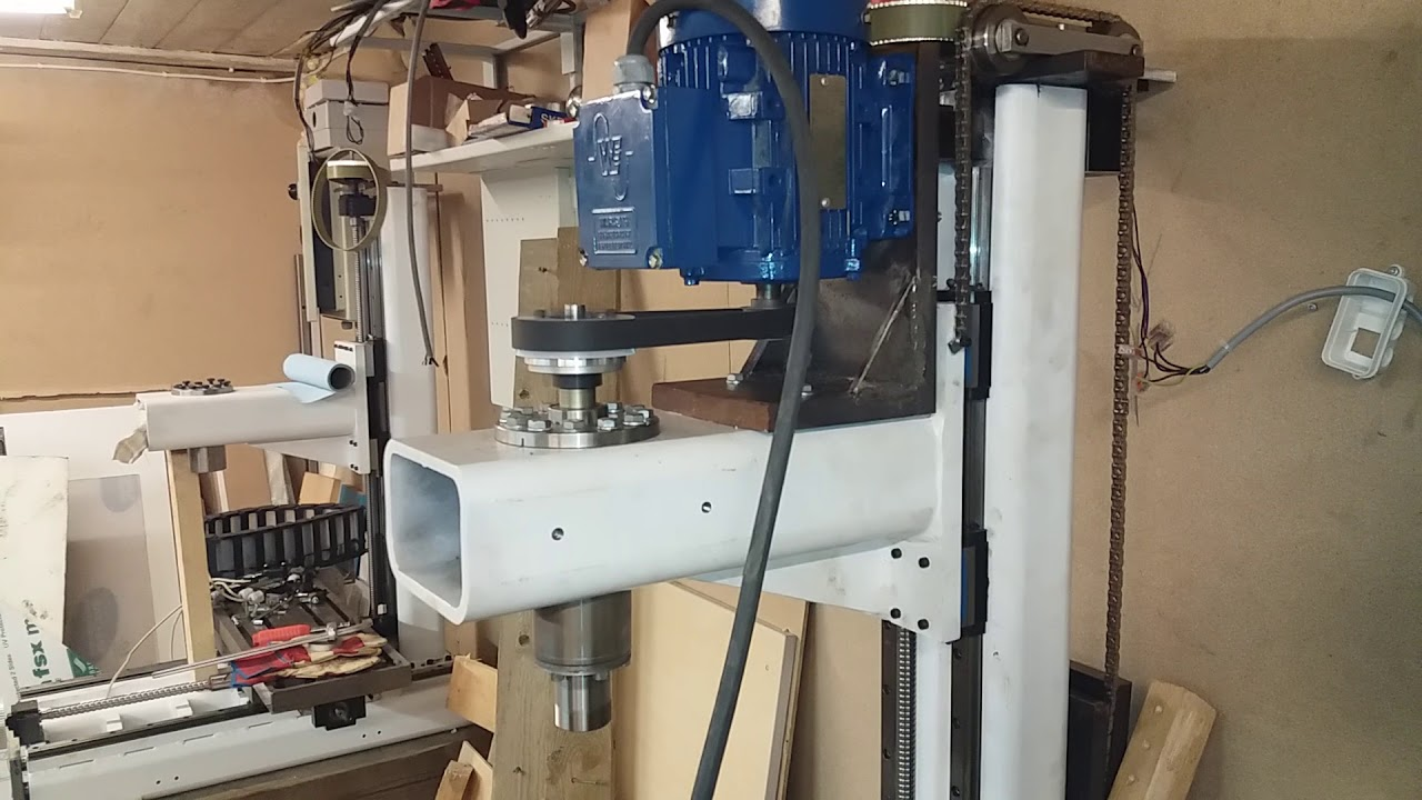 Diy cnc milling machine, testing a new