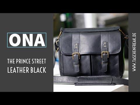 Die ONA The Prince Street - in schwarzem Leder - in der näheren Betrachtung