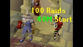 How much money can you make from 100 raids? (40m start)