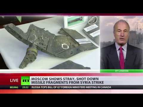 Moscow shows stray, shot down missile fragments from Syria strike