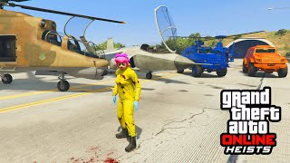 GTA 5 NEW MILITARY VEHCILES - Hydra, Savage Helicopter, & Valkyrie Gameplay! (GTA 5 Heist DLC)