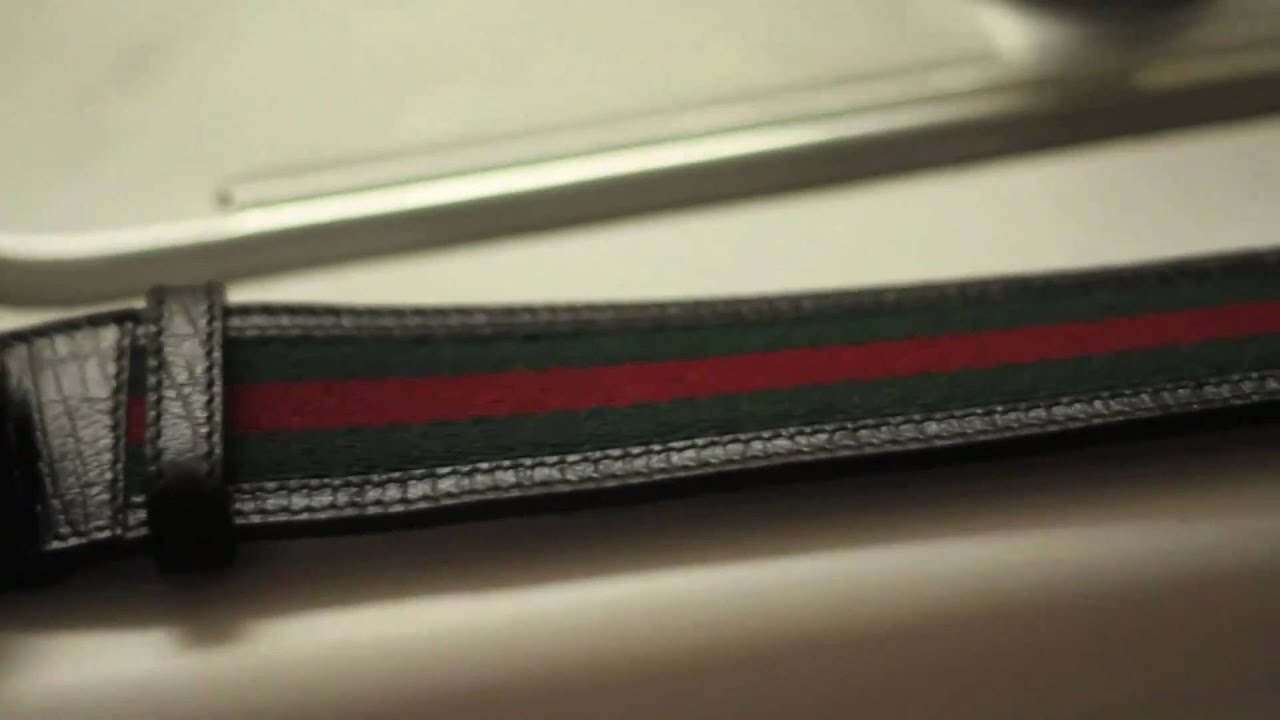 "AUTHENTIC GUCCI BELT ""RED AND GREEN STRIPES"" - YouTube"