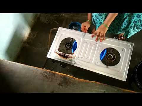 Deep kitchen cleaning ||how to clean gas stove deeply ||village kitchen cleaning