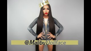 "AliPearl (Aliexpress )  60"" Brazilian Straight + 40"" 13x6 Lace Frontal Review"