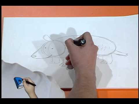 Desenhando Um Tatu Youtube