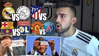 HINCHA del REAL MADRID reaciona al SORTEO de OCTAVOS de la UEFA Champions League 2018 2019