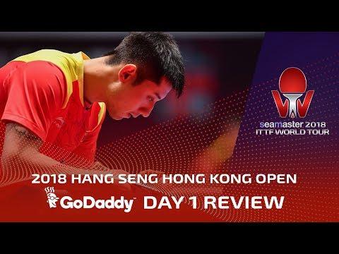 2018 ITTF Hang Seng Hong Kong Open | Day 1 Review presented by GoDaddy