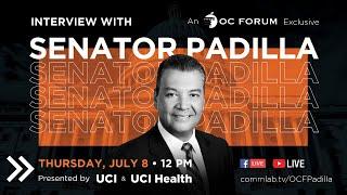 Interview with Senator Padilla