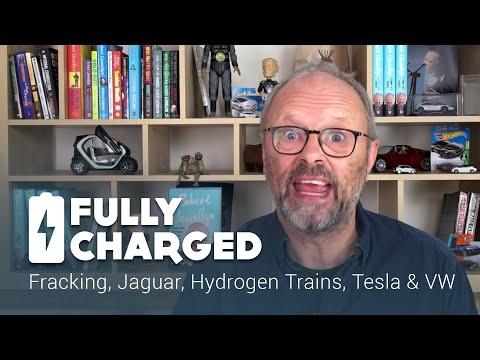 Fracking, Jaguar, Hydrogen Trains, Tesla & VW | Fully Charged News