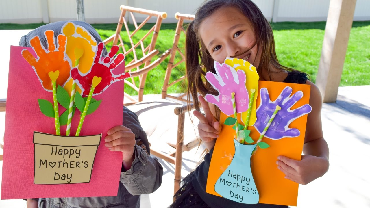 Mothers Day Handprint Vase And Flower Pot Kids Craft Tutorial And