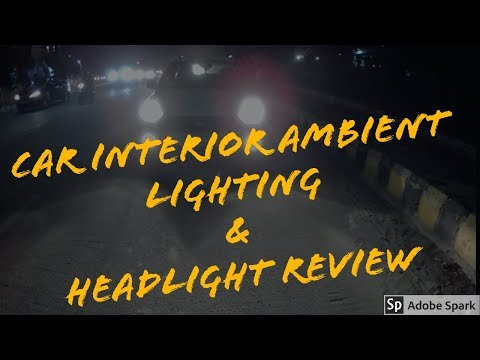 Ford Freestyle || Car interior ambient lighting & Headlight Review - Hindi
