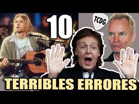 10 Terribles Errores Que Quedaron Grabados En Canciones Famosas | TCDG