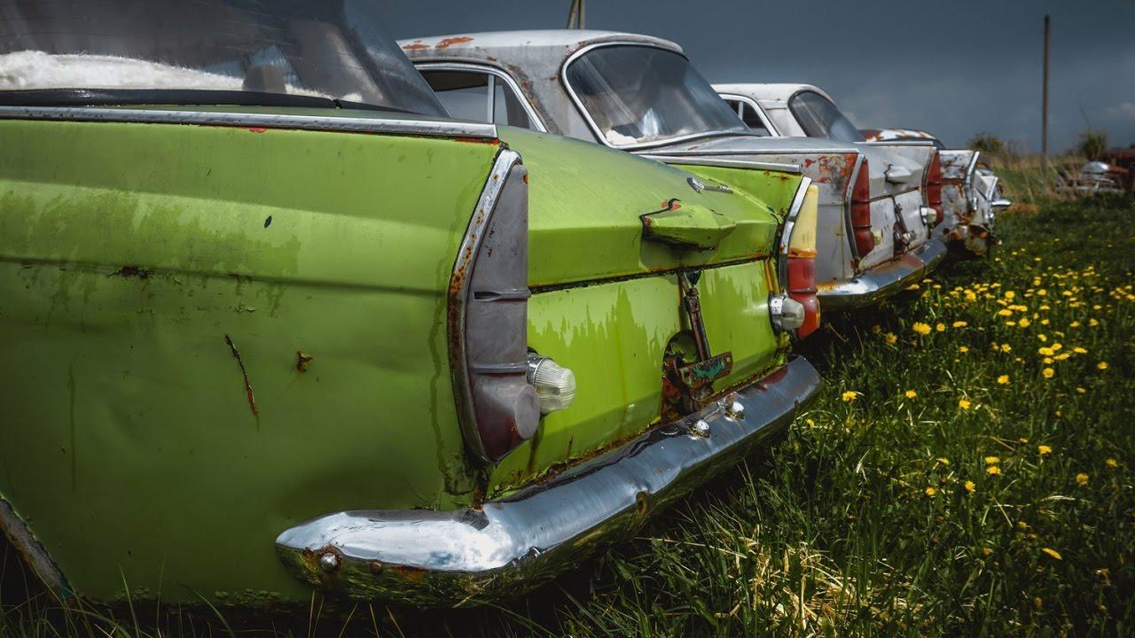 Просто  гниют в поле: Кладбище редких автомобилей из СССР