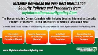 Information Security Policies and Procedures for Instant Download