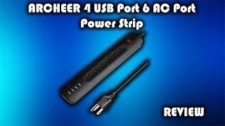 ARCHEER 4 USB Port 6 AC Port Power Strip Review | Galaxy Tech Review
