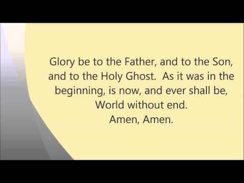 Gloria Patri (Glory Be to the Father)