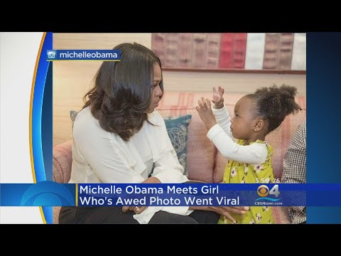 Fmr. First Lady Michelle Obama Meet The Girl Who's Awed Photo Went Viral