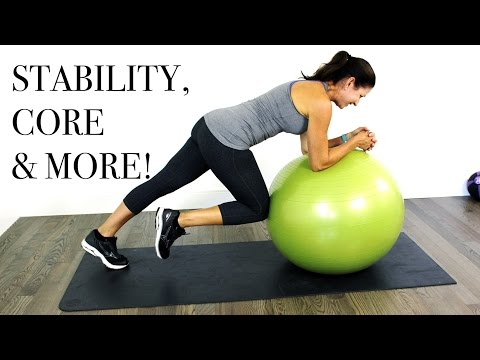 CORE & MORE Stability Ball WORKOUT Intermediate Level