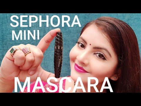 SEPHORA Outrageous Extension Dramatic Volume Length Mini Mascara Review & Demo | RARA | Mini Makeup
