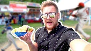 Американская еда | Бейсбольный матч | Самое тихое место в мире!