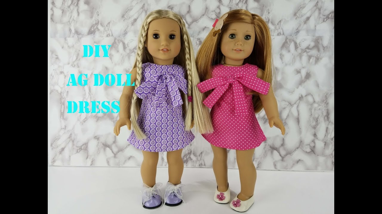 graphic about American Girl Clothes Patterns Free Printable known as How in direction of Sew an A-line Costume for American Woman Doll- Free of charge Layouts