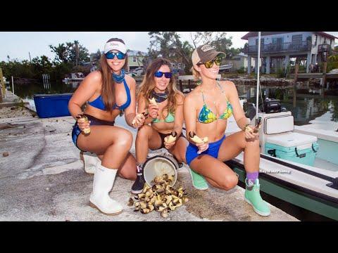 Girls Catching Crabs