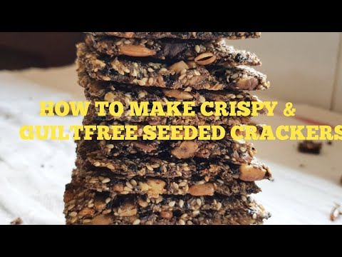 HOW TO MAKE THE BEST KETO SEEDED CRACKERS IN 10 MINS : SUPER CRISPY