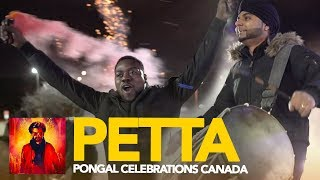 PETTA REVIEW - FDFS Canada Pongal Celebrations with Fireworks, Drummers, Rajini Fans