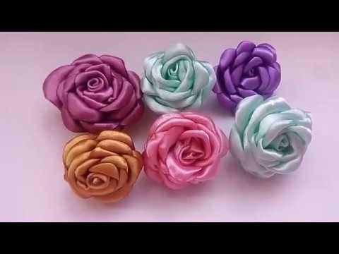 Flores de tela y liston rosas de tela y liston paso a paso youtube - Flores de telas hechas a mano ...