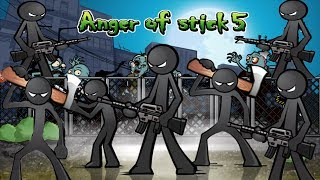 Anger of Stick 5 Apk: All Weapons Unlocked # Hacked 2018 - Android GamePlay#12