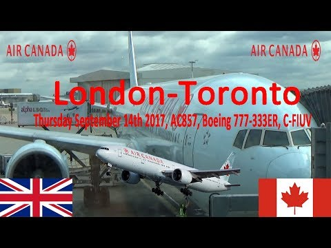✈FLIGHT REPORT✈ Air Canada, London To Toronto , Boeing 777-333ER, AC857