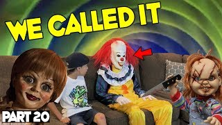 Evil Doll Annabelle mailed to us FREAKS US OUT and haunts us like a SCARY CLOWN - Part 20