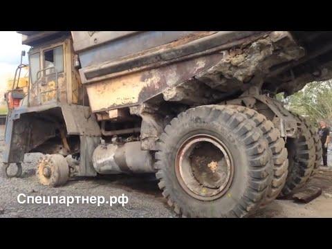 Перенос Белазов на тралы в Ачинске и транспортировка в Кемерово.  Спецпартнер.рф