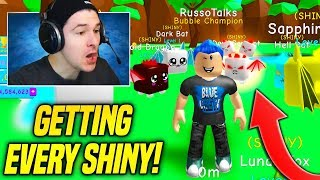 GETTING EVERY SHINY PET IN BUBBLE GUM SIMULATOR NEW UPDATE!! *HARD* (Roblox)
