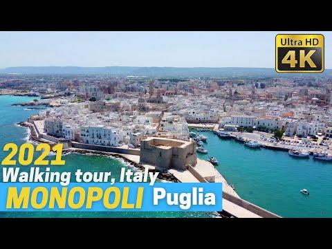 MONOPOLI (Puglia), Italy walking tour in 4k [2021]