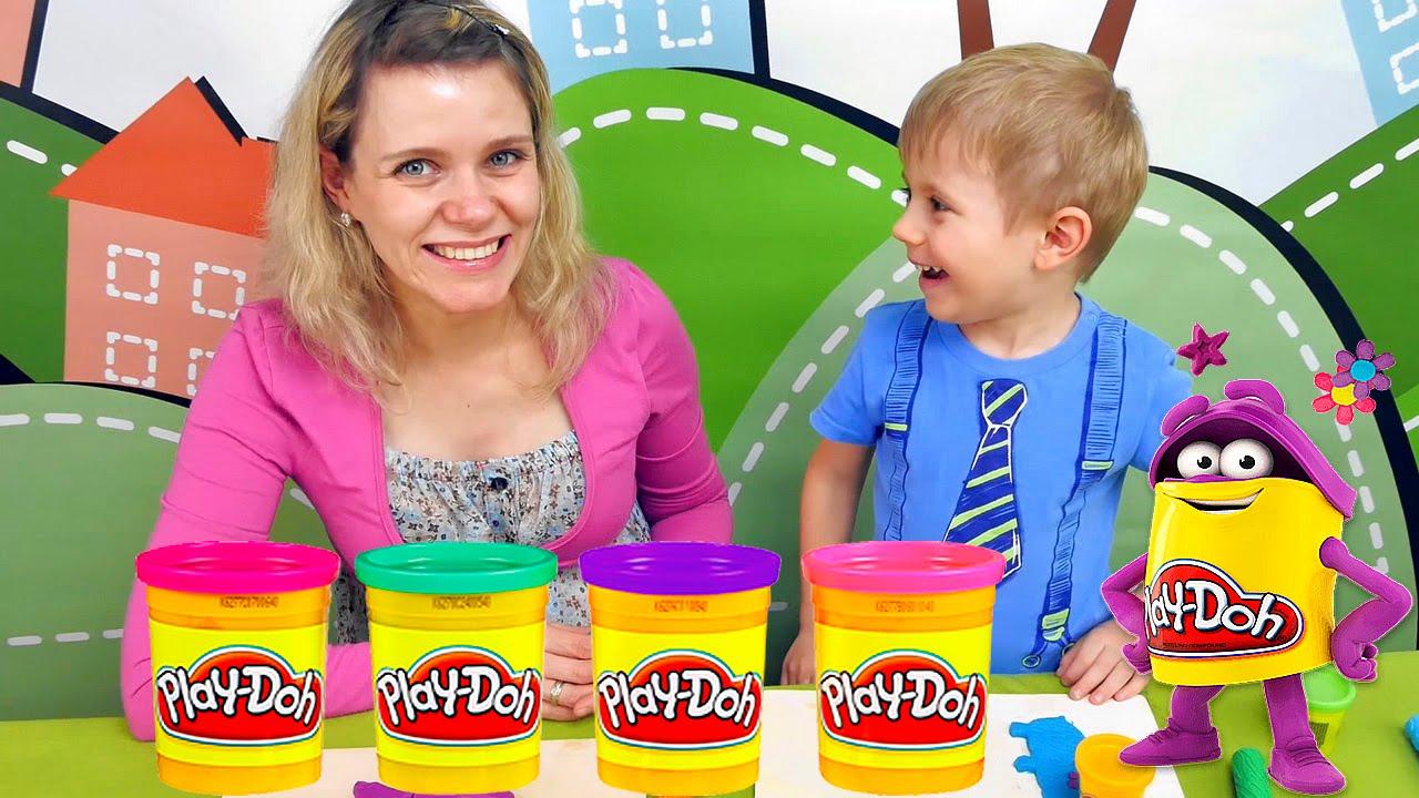 Плей До пластилин для детей - Сборник интересных серий на канале Курносики Junior. Play Doh videos