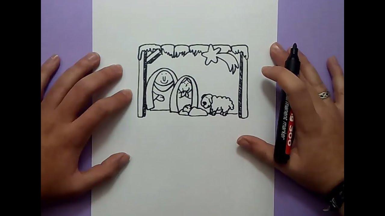 Como dibujar un portal de belen paso a paso how to draw for Como pintar un mural infantil