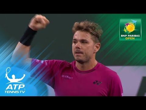 Wawrinka fights past Thiem in thriller | Indian Wells 2017 Day 8 Highlights