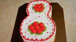 Торт на 8 марта Бисквитный торт с КЛУБНИЧНЫМ конфитюром