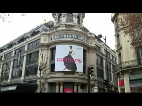 Paris - Department stores - Les grands magasins (Galeries Lafayette, Printemps, Bon Marché) パリ