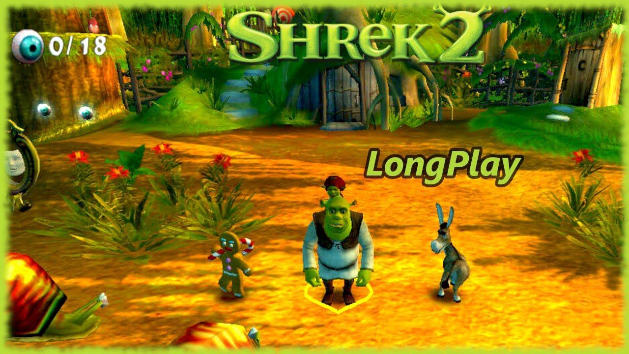 Shrek 2 - Longplay Co-op 4 Players Full Game Walkthrough (No