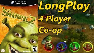 Shrek 2 - Longplay Co-op 4 Players Full Game Walkthrough (No Commentary)