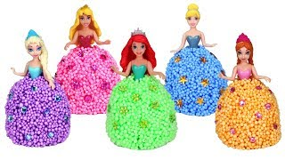 Disney Princess Bubble Foam Dress Making | Creative Fun with Frozen Elsa Ariel Cinderella Aurora
