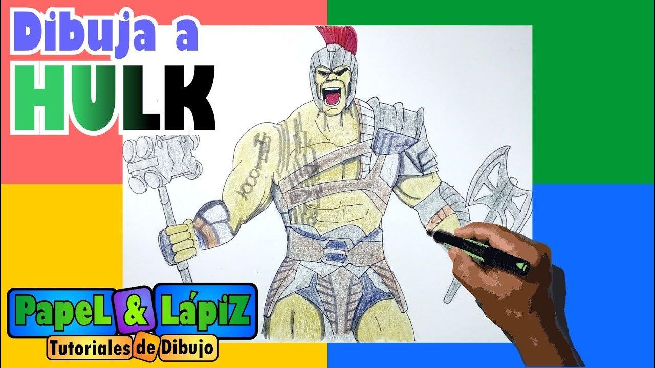 Aprende A Dibujar A Hulk De Thor Ragnarok Youtube